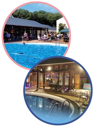 ヴィラダイオーリゾートの屋外プール・ナイトプールの画像